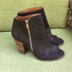 Lucky Brand Lamija leather ankle boots.